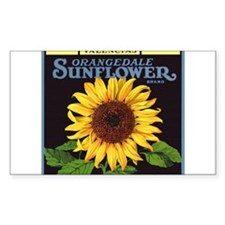 Vintage Fruit Crate Label Art, Sunflower Decal