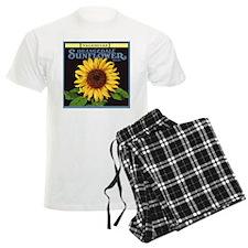 Vintage Fruit Crate Label Art, Sunflower Pajamas
