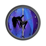 Pole dance Wall Clocks