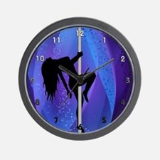 Pole Dancing Stripper - Purple Wall Clock