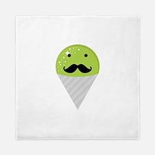 Green Snow Cone Mustache Queen Duvet
