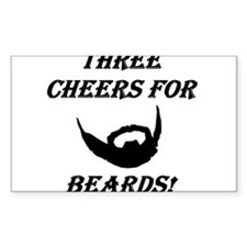 Three Cheers For Beards! Decal