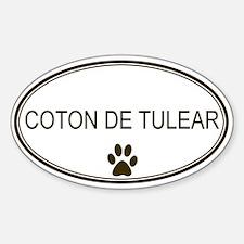 Oval Coton de Tulear Oval Decal