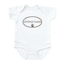 Oval Coton de Tulear Infant Bodysuit