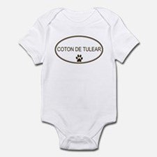 Oval Coton de Tulear Infant Bodysuit