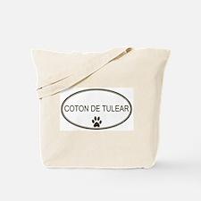 Oval Coton de Tulear Tote Bag