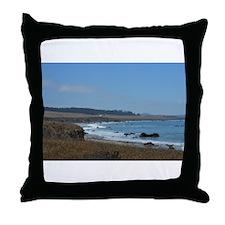 Beach near Big Sur, CA Throw Pillow