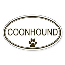 Oval Coonhound Oval Decal