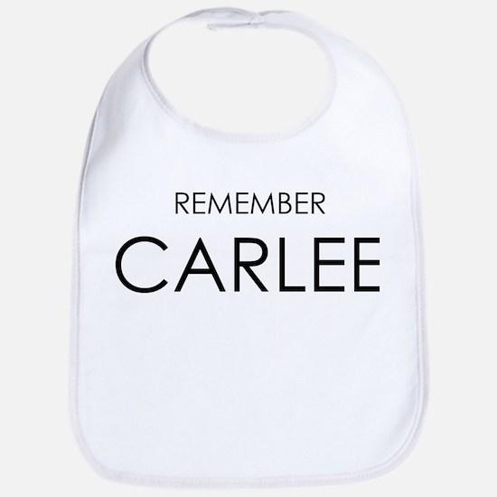 Remember Carlee Bib