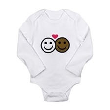 Interracial Love Infant Creeper Body Suit