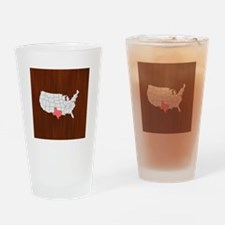 'Texas' Drinking Glass