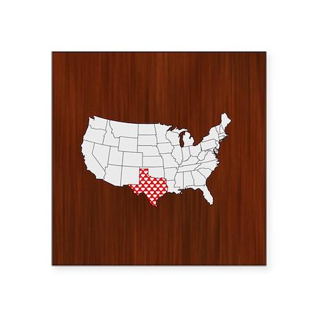 """'Texas' Square Sticker 3"""" x 3"""""""