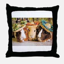Aloha Guineas Throw Pillow