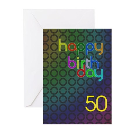 50th Birthday card for a man Greeting Cards (Pk of