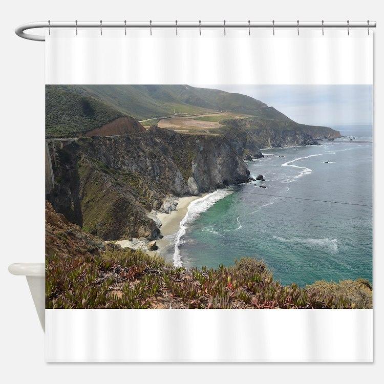 Rocky CA Coast Shower Curtain