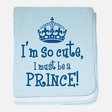 So Cute Prince baby blanket
