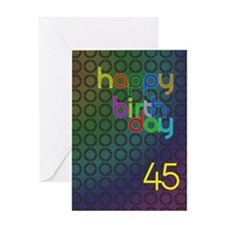 45th Birthday card for a man Greeting Card