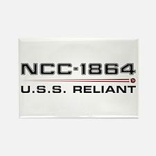 USS Reliant Dark Rectangle Magnet