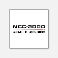 USS Excelsior Dark Sticker