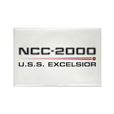 USS Excelsior Dark Rectangle Magnet