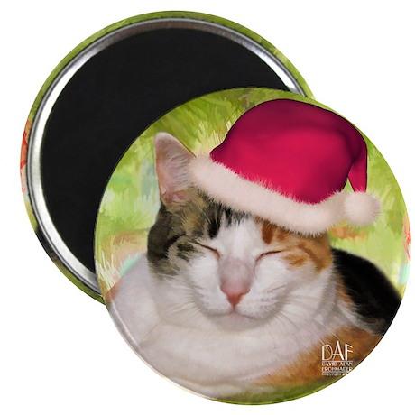 Christmas Calico Magnet