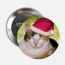 """Christmas Calico 2.25"""" Button"""