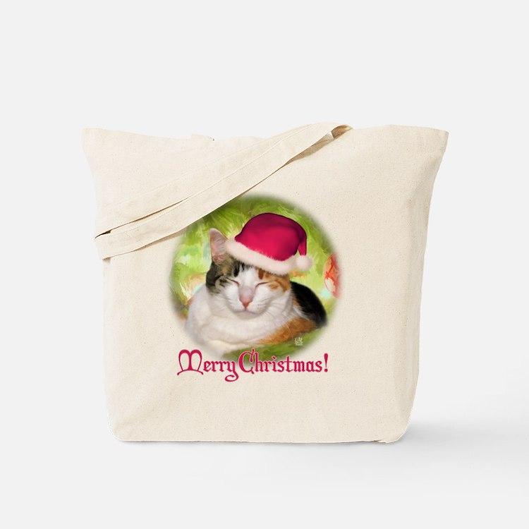 Christmas Calico Tote Bag