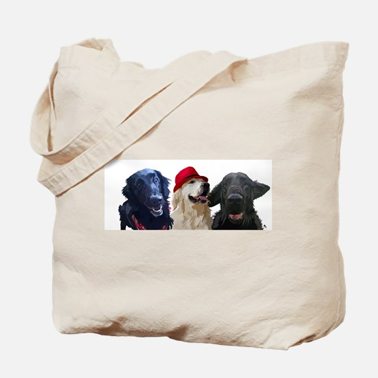 3 retrievers Tote Bag