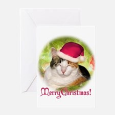 Christmas Calico Greeting Card