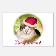 Christmas Calico Postcards (Package of 8)