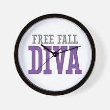 Free Fall DIVA Wall Clock