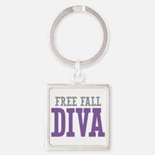 Free Fall DIVA Square Keychain