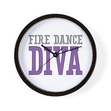 Fire Dance DIVA Wall Clock