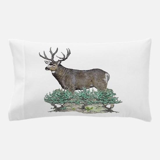 Buck watercolor art Pillow Case