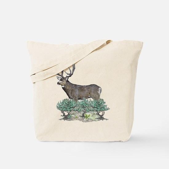 Buck watercolor art Tote Bag