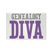 Genealogy DIVA Rectangle Magnet