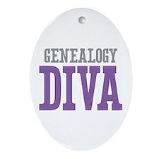 Genealogy DIVA Ornament (Oval)