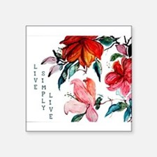 Beautiful Watercolor Painting of Hibisicus Sticker