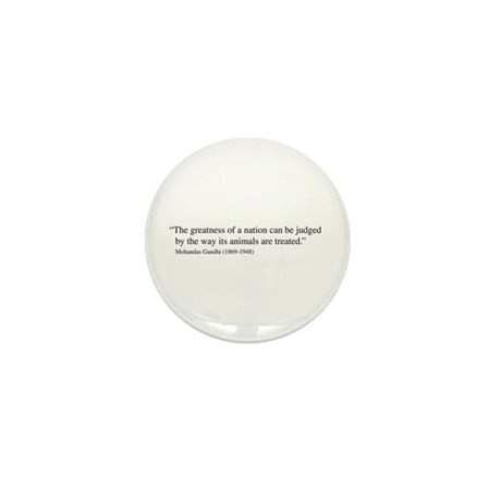 Gandhi quote Mini Button