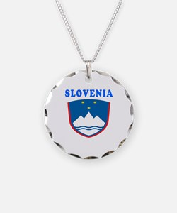 Slovenia Coat Of Arms Designs Necklace