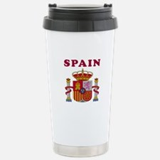 Spain Coat Of Arms Designs Stainless Steel Travel