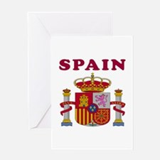 Spain Coat Of Arms Designs Greeting Card