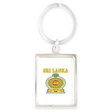 Sri Lanka Coat Of Arms Designs Portrait Keychain