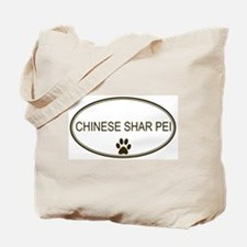 Oval Chinese Shar Pei Tote Bag