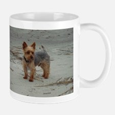 Yorkshire Terrier on the Beach at Hilton Head Mug