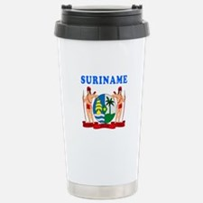 Suriname Coat Of Arms Designs Travel Mug