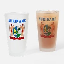 Suriname Coat Of Arms Designs Drinking Glass
