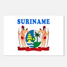 Suriname Coat Of Arms Designs Postcards (Package o