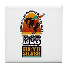 B25 - Life without the mask! Tile Coaster
