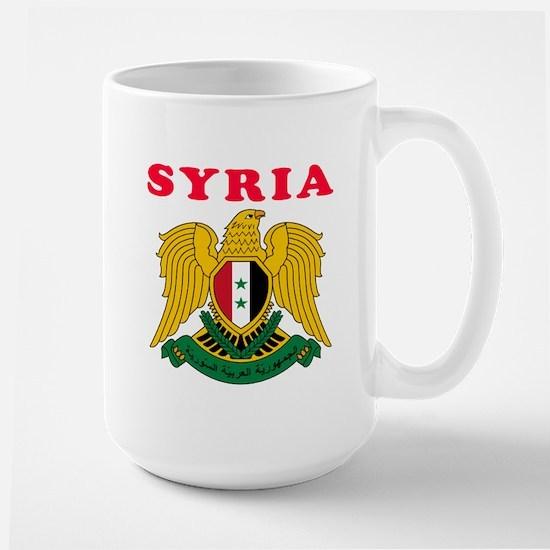 Syria Coat Of Arms Designs Large Mug